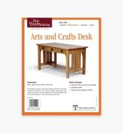 73L2515 - Arts and Crafts Desk Plan
