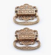 01K1502 - Poignées victoriennes en bronze, la paire