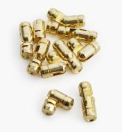00D8150   - 5mm × 15mm Brass Pin Hinges, pkg. of 10