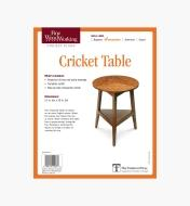 73L2534 - Cricket Table Plan