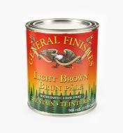 56Z1678 - General Dye Stain - Light Brown, 1 qt.