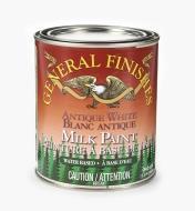 56Z1711 - Antique White General Milk Paint, 1 qt.