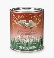 56Z1724 - Persian Blue General Milk Paint, 1 qt.