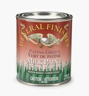 56Z1726 - Patina Green General Milk Paint, 1 qt.