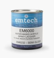 56Z1915 - Emtech Water-Based Semi-Gloss Lacquer, Quart