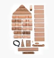 Log Cabin Ornament Kit unassembled