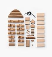 Log Barn Ornament Kit unassembled