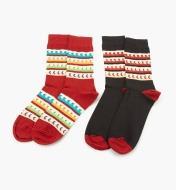 67K3122 - Socks, size 10 12 (2 pr.)