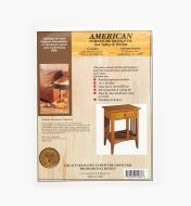 01L5124 - Mission Contemporary Nightstand Plan