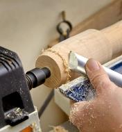 Turning a spindle part on a lathe using a Safe Driver