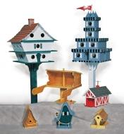 Examples of completed birdhouses