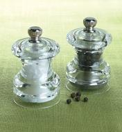 Cole & Mason Mini Salt & Pepper Mills on a tablecloth