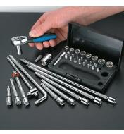 17K0156 - 38-pc Socket Wrench Extension Homeowner's Kit