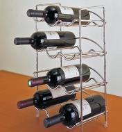 Bottle Rack holding bottles of wine