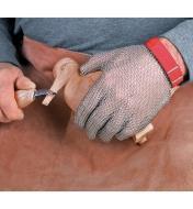 Gant en mailles d'acier pour sculpteur