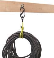 """68K0723 - 24 1/2"""" Yellow Clip-Mount GearTie Flexible Tie, each"""