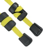 "68K0843 - 25"" Yellow Betterband Cinchable Elastic Cords, pair"