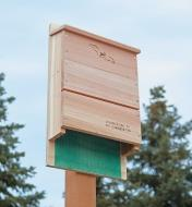 Bat House mounted on a post