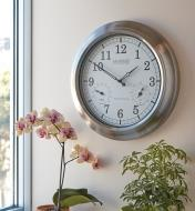 Atomic Radio-Controlled Clock hanging on a wall