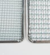 """Close-up of 6mm (1/4"""") mesh and 12mm (1/2"""") mesh"""