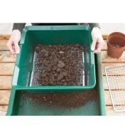 Sifting soil through the Deep Soil Sieve