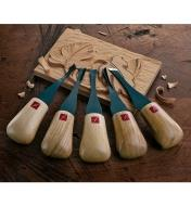 06D0550 - Set of 5 Carvers