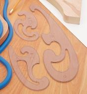 07K0901 - French Curves, set of 3