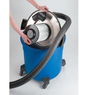 HEPA Filter installed in a shop vac