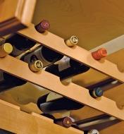 Porte-bouteilles en bois massif