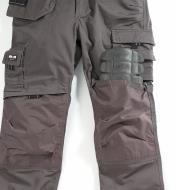 Sliding a knee pad into the Cordura-faced knee pad pocket