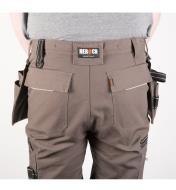 Back of Gray Heavyweight Pants