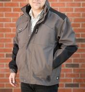 68K5043G - Large Herock Convertible Work Jacket, Gray
