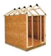 Example of shed built with the Easy Shed Kit