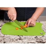 Chopping carrots on the Flexible Cutting Mat