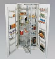 Installed Kitchen Pantry Hardware holding various food items