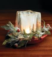 Ice Lantern used as a centerpiece on a table