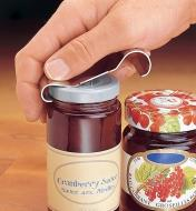 Using the Lee Valley Jar Opener to open a jar of cranberry sauce