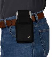 68K0636 - Grand étui à pince pour téléphone cellulaire, vertical