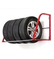 Heavy-Duty Tire Rack holding a set of four tires