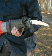 Pruning Blade installed in a reciprocating saw
