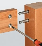 Installing cross dowels in one side of a joint