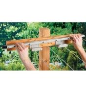 Slotting the clothesline bar into the brackets