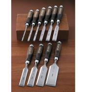 "10S0979 - Narex Classic Bevel-Edge Chisels, Set of 10 (1/4"" to 2"")"