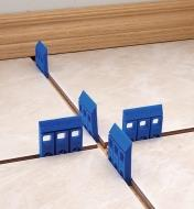 Polypropylene Shims used to space floor tiles