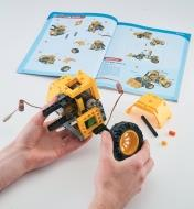 Following the instructions to build a remote-controlled bulldozer