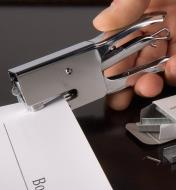 Stapling pages together with a Mini Plier Stapler