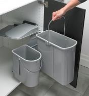 12K7830 - Swing-Out Dual Waste Bin