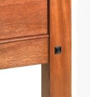 Example of a furniture piece with a square plug in the leg