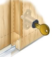 Sliding-Door Push Lock