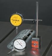 Comparateurs à cadran Starrett et embase magnétique